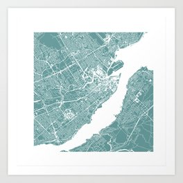 CITY OF QUEBEC (GREY) Art Print