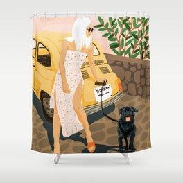 Tour #illustration Shower Curtain