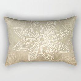 Flower pattern brown Rectangular Pillow