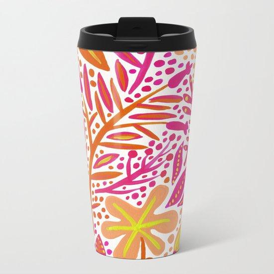 Garden – Citrus Palette Metal Travel Mug