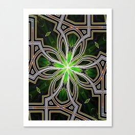 Stain glass Star window* Canvas Print