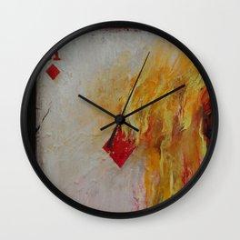 Ace of Diamonds Wall Clock