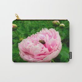 Bumble Bee on a Pink Peony Carry-All Pouch