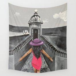 La Nina en la garita.  Wall Tapestry