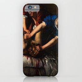 Artemisia Gentileschi. Judith beheading Holofernes, about 1612-13 iPhone Case
