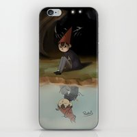over the garden wall iPhone & iPod Skins featuring Over the garden wall by Peetsj
