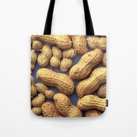 peanuts Tote Bags featuring Peanuts by BravuraMedia