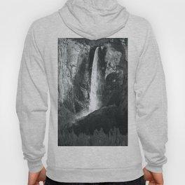 Bridalveil Falls. Yosemite California in Black and White Hoody
