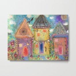 Pastel Houses  Metal Print