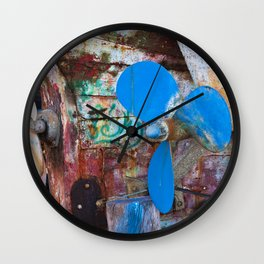 Old Port of Alcitrezza with a Wreck in Sicily Wall Clock