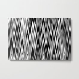WAVY #1 (Black, White & Grays) Metal Print