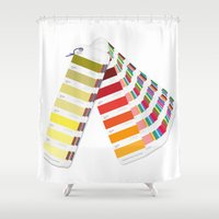 pantone Shower Curtains featuring PANTONE by VincenzoRusso