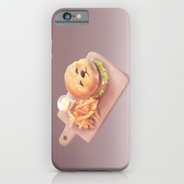 Smile Dog Burger iPhone Case