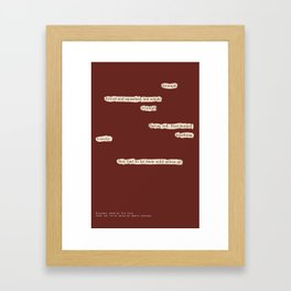 Blackout Poem {018.} Framed Art Print