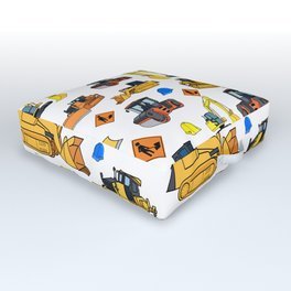 Construction Vehicles Pattern Outdoor Floor Cushion