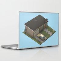 mid century Laptop & iPad Skins featuring Mid Century Modern Home by Michiel van den Berg