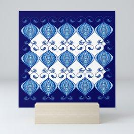 Twisted Blues Mini Art Print