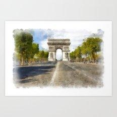 Paris - Arc de Triomphe Art Print