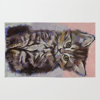 kitten Area & Throw Rugs featuring Kitten by Michael Creese