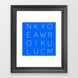 Make Your Own Luck! Framed Art Print