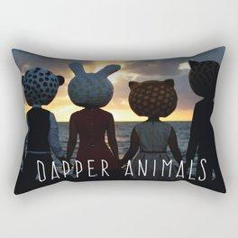 Dapper Animals Sunset Rectangular Pillow