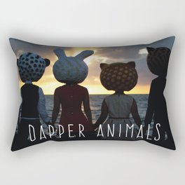 Dapper Animals Sunset Rectangular Pillow