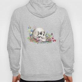 Skull Still Life With Wild Flowers Hoody