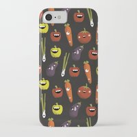 vegetarian iPhone & iPod Cases featuring Vegetarian party by Miki Mottes