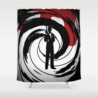 james bond Shower Curtains featuring JAMES BOND by alexa