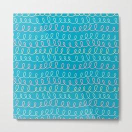 Pattern Project #11 / Swirls Metal Print