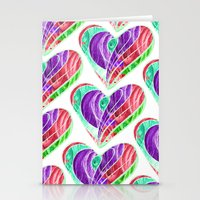 tetris Stationery Cards featuring Love Tetris by Len Tierra