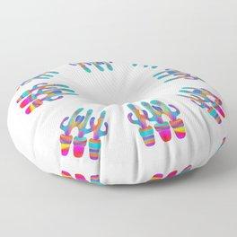 Cactus Rainbow 02 Floor Pillow