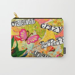 I Am Beautiful Mixed Media Carry-All Pouch