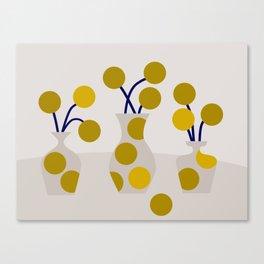 Illustration:cut flowers Canvas Print