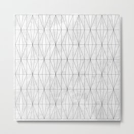 White Rhombus on White Marble Metal Print