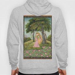 Vintage India Beautiful Woman Garden Print Hoody