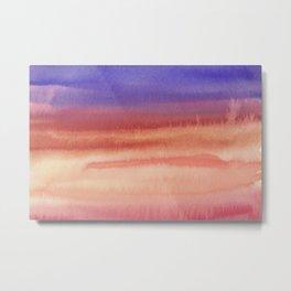 Sky Watercolor Texture Abstract 610 Metal Print