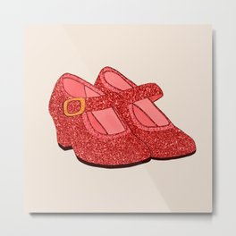 Red Magic Shoes Metal Print