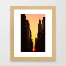Manhattanhenge along 42nd Street NYC Framed Art Print