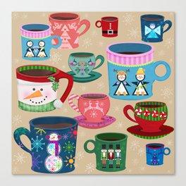 Fa La La La Latte Canvas Print