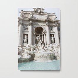 Trevi Fountain. Metal Print