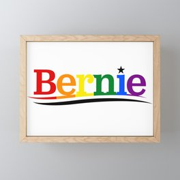 Bernie Sanders Gay Pride LGBT Logo Framed Mini Art Print