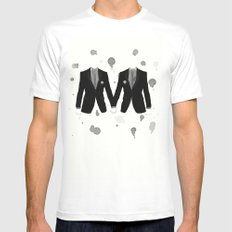 Gay Marriage MEDIUM Mens Fitted Tee White