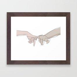 Pinky Shades Framed Art Print