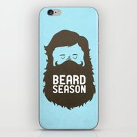 logo iPhone & iPod Skins featuring Beard Season by Chase Kunz