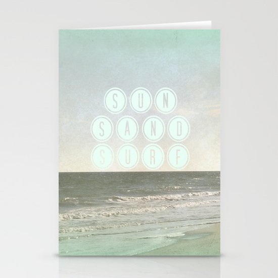 Sun, Sand, Surf  II Stationery Cards