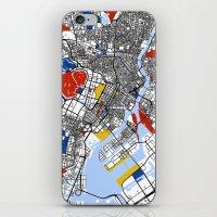 mondrian iPhone & iPod Skins featuring Tokyo Mondrian by Mondrian Maps