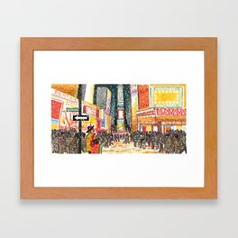 Nana in the City Framed Art Print