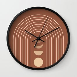 Mid Century Modern Geometric 10 (Moon phases) Wall Clock