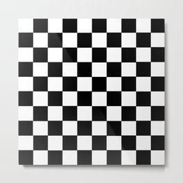 Grid domino bank white and black Metal Print
